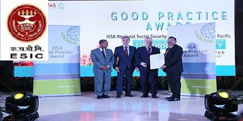 "ESIC wins 'ISSA Good Practice Award' at the ""Regional Social Security Forum for Asia and the Pacific"""