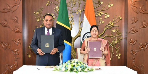 India and Tanzania sign 2 MoUs in New Delhi