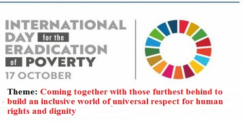 International Day for the Eradication of Poverty - 17 October