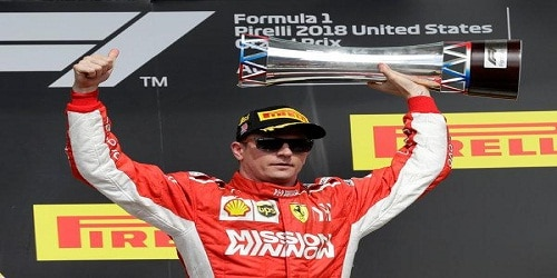 Kimi Raikkonen wins US Grand Prix with Lewis Hamilton unable to get fifth F1 title