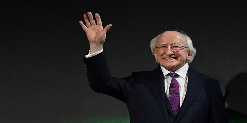 Michael D Higgins re-elected as Irish president