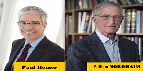 Nobel Economics 2018 awarded to Americans William Nordhaus and Paul Romer