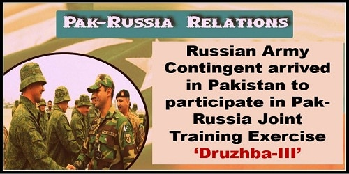 Pak-Russia Joint Training Exercise 'Druzhba-III' held in Pakistan
