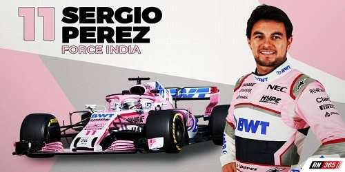 Sergio Perez extends F1 contract with Force India for 2019