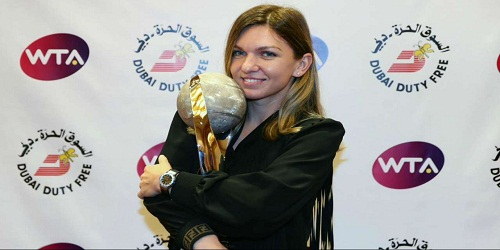 Simona Halep becomes first recipient of Chris Evert WTA World No.1 Trophy