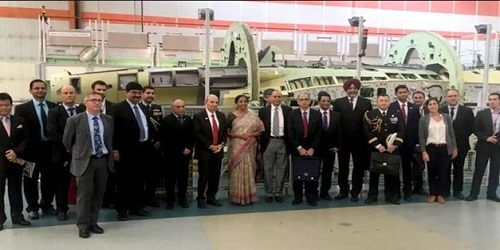 Visiting Dassault amid controversy