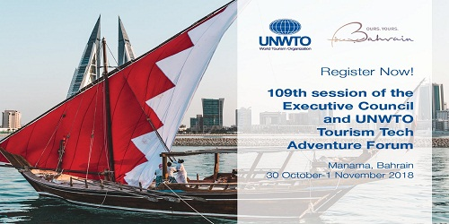 109th session of United Nations World Tourism Organization (UNWTO) Executive Council in Manama, Bahrain