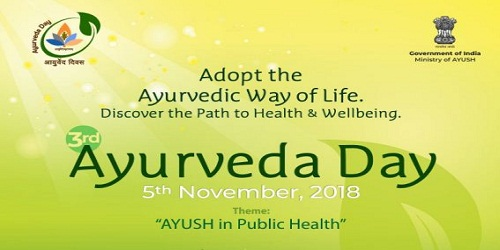 3rd Ayurveda Day celebrated throughout the Country on 5th November