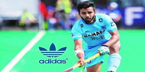 Hockey captain Manpreet signed up with Adidas