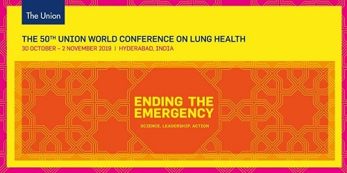 India to host 4-day 50th Union World Conference on Lung Health in 2019 in Hyderabad The Union