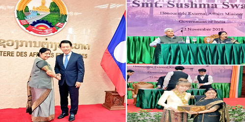 Overview of EAM Sushma Swaraj's 2-day official visit to Laos PDR