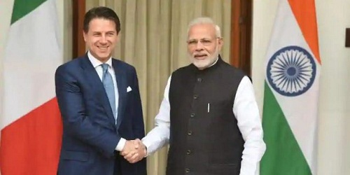 Overview of Prime Minister of Italy Mr. Giuseppe Conte's 1-day visit to India