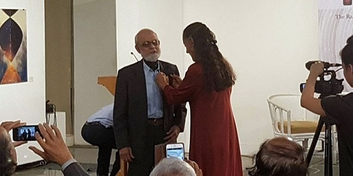 Professor S.P. Ganguly conferred the Mexican Order of the Aztec Eagle