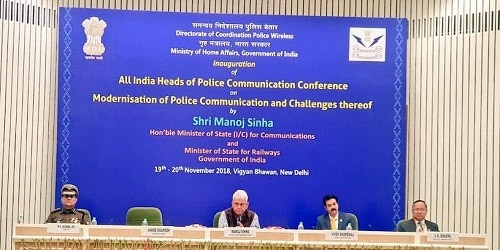 Shri Manoj Sinha inaugurates the All India Heads of Police Communication Conference held in New Delhi