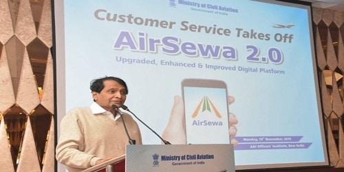 Suresh Prabhu launches AirSewa 2.0 web portal and mobile app