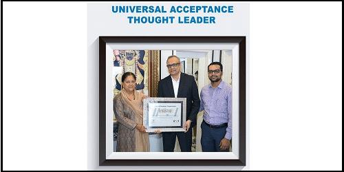 UASG confers Universal Acceptance Thought Leader award to Rajasthan CM Vasundhara Raje