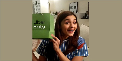 Uber Eats appointed Alia Bhatt
