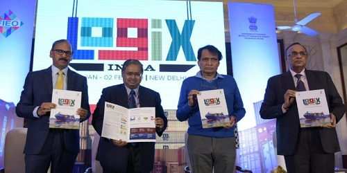 Union Commerce Minister revealed logo and brochure of 3-day Logix India 2019 which will be held in New Delhi in 2019