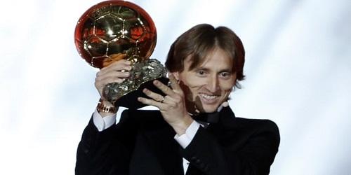 2018 Ballon d'Or Award was announced.Real Madrid's Croatia midfielder Luka Modric
