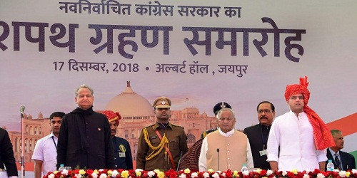 Ashok Gehlot sworn-in as Rajasthan CM