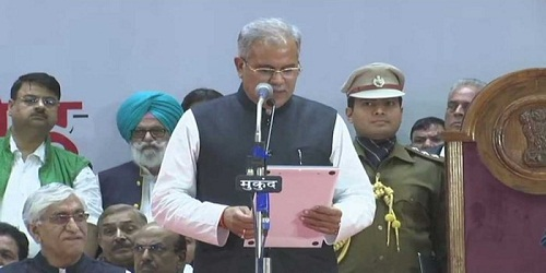 Bhupesh Baghel Sworn in as Chhattisgarh's third Chief Minister
