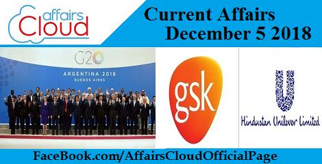 Current Affairs December 5 2018