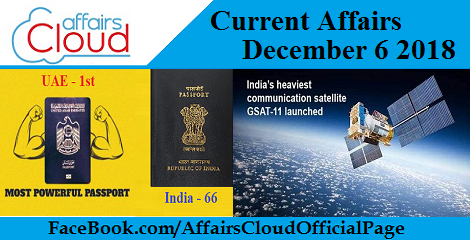 Current Affairs December 6 2018