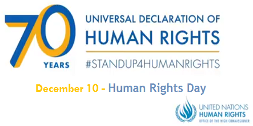 December 10 celebrated annually as International Day of Human Rights; UDHR turned 70 in 2018