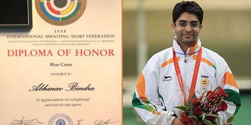 First Indian to get the Blue Cross, highest shooting honour by ISSF