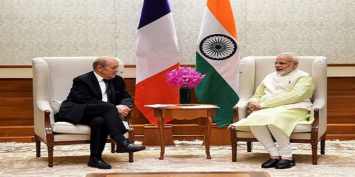 French Foreign Minister Jean-Yves Le Drian on two-day visit in India
