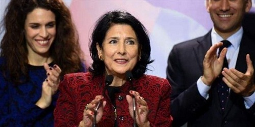 Georgia elects its first female president Salome Zurichishvili