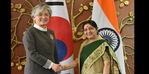 India, S Korea to raise bilateral trade to 50 billion dollars by 2030 MEA Sushma Swaraj at 9th India-Korea Joint Commission Meeting in New Delhi
