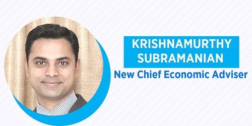 Krishnamurthy Subramanian as new Chief Economic Advisor