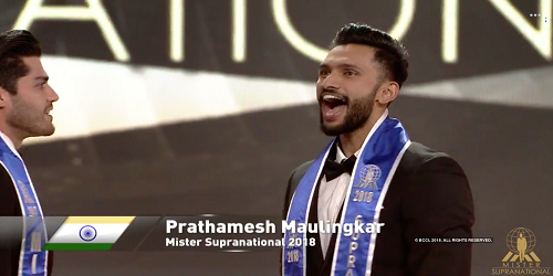 Prathamesh Maulingkar, hailing from Goa, India, became the first AsianIndian Mr Supranational 2018
