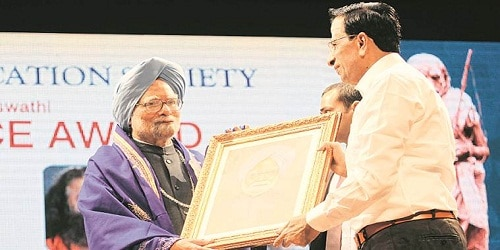 South Indian Education Society award for Manmohan Singh