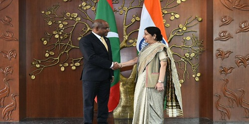 Visit of Foreign Minister of Maldives H.E. Abdulla Shahid to India
