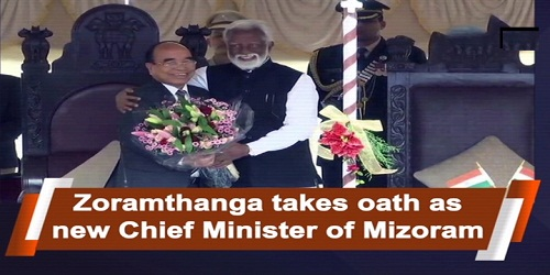 Zoramthanga takes oath as Mizoram CM for Third Time
