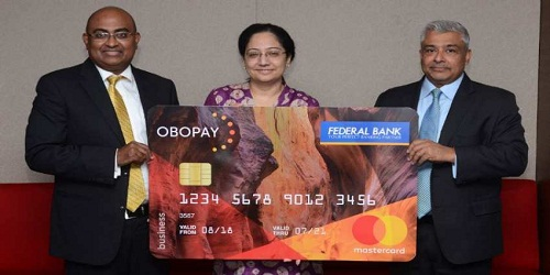 new generation pre-payment instrument for enterprise customers launched by OBOPAY, Federal Bank and MasterCard