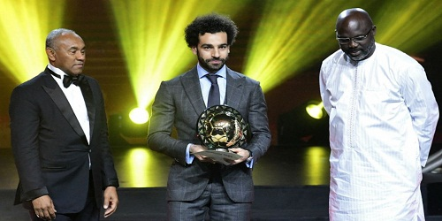 2018 Confederation of African Football Player of the Year award given to Liverpool's Mohamed Salah