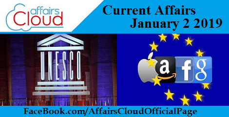 Current Affairs January 2 2019