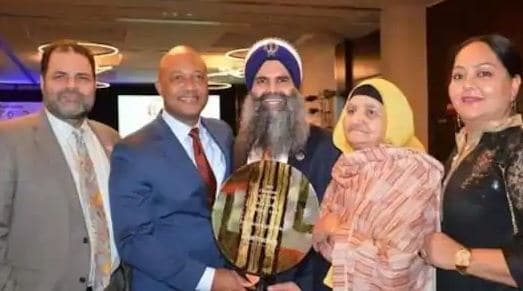 Gurinder Singh Khalsa,presented with the prestigious Rosa Park Trailblazer award