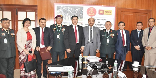 Indian Army and Punjab National Bank (PNB) singed MOU for updated salary packages