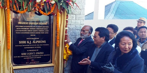 K J Alphons Inaugurated first Swadesh Darshan Project in Sikkim