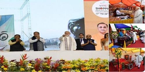PM inaugurated the Ahmedabad Shopping Festival-2019