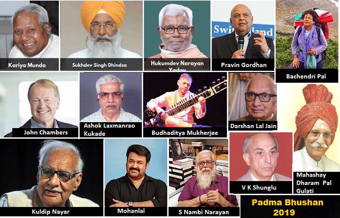 Padma Bhushan 2019
