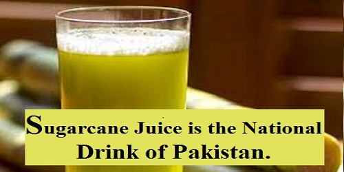 Sugarcane juice national drink of Pakistan