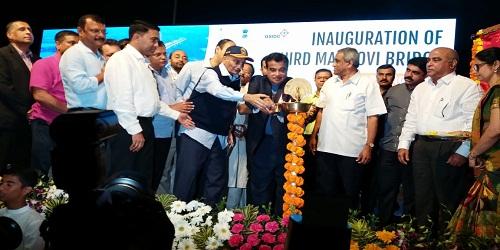 Third Bridge inaugurated by Union Minister Nitin Gadkari