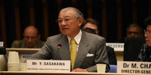 Yohei Sasakawa received Gandhi Peace Prize for 2018