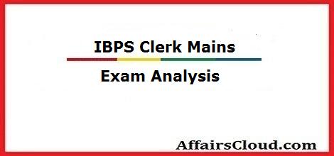 ibps-clerk-mains-exam-analysis