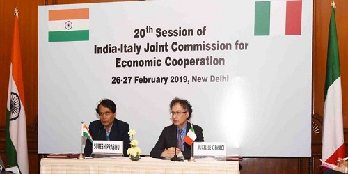 20th India-Italy JCEC session held in New Delhi